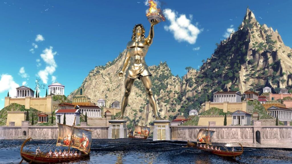 Колосс Родосский, судо света, статуя Колосса Родосского, бог Солнца Гелиос, Греция, Родос, скульптор Харес, лайфхаб, lifehub