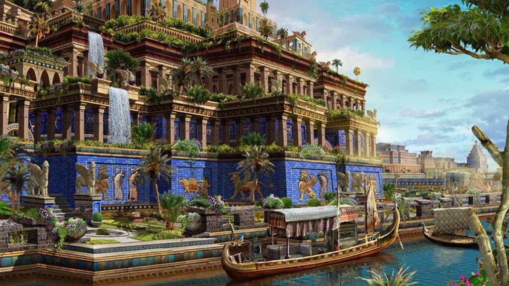 Висячие сады Семирамиды, Вавилон, семь чудес света Древнего мира, Месопотамия, Ирак, Навуходоносор II, чудо света