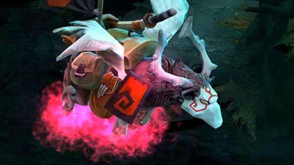 DOTA 2, Дота 2, розовый пес, розовая собака, NFT, технология NFT, Ethereal Flames Pink War Dog, Дота 2 баг, лайфхаб, lifehub, что такое NFT