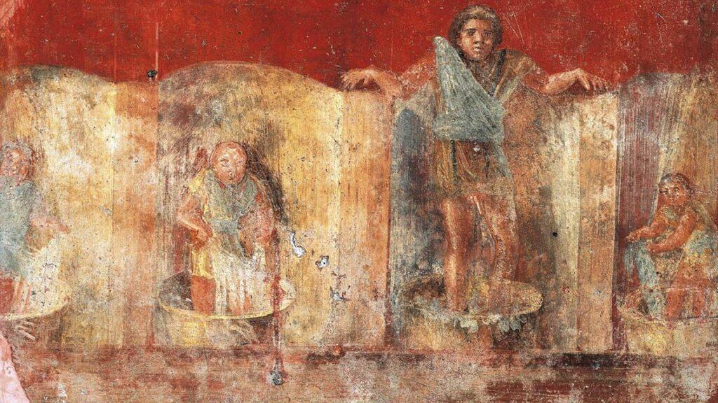 Фреска Помпеи, фуллоника, прачечная Помпеи, лайфхаб, история мыла, возникновение мыла, моча вместо мыла, lifehub